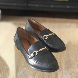 Topshop Gold Bit Loafers